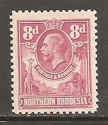 Northern Rhodesia  SC 8  Mint Lightly Hinged
