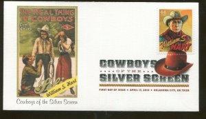 2010 Oklahoma City - Silver Screen Cowboys - William S. Hart - Fleetwood FDC