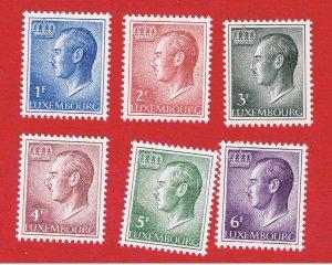 Luxembourg #418//428  MNH OG  Grand Duke  Free S/H