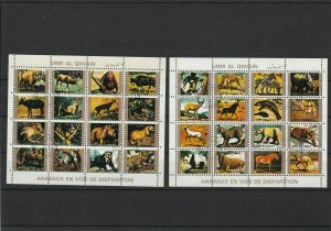 Umm Al Qiwain Different Animals Koala Panda Etc Stamps Sheets Ref 24875