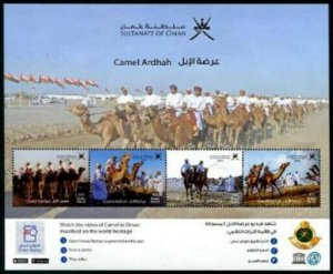 HERRICKSTAMP NEW ISSUES OMAN Camels Souvenir Sheet