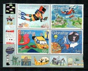 Gibraltar #831a  MNH  Scott $7.25   Block of 4