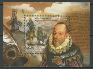 Bosnia and Herzegovina 2016 Famous People Miguel de Cervantes MNH Block