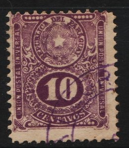 Paraguay 1910/1921 Arms & Numeral 10c (1/10) USED