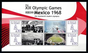 [93074] St. Vincent & Gren. 2009 Olympic Games Mexico Ceremony Sheet MNH