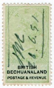 (I.B) British Bechuanaland Revenue : Duty Stamp 10/-