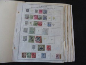 Barbados 1852-1992 Stamp Collection on Scott Album Pages