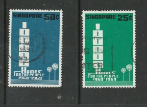 Singapore 1969 Homes for the people Used SG 119/20