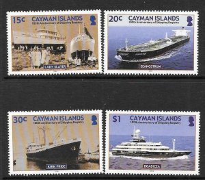 CAYMAN ISLANDS SG1041/5 2004 SHIPPING REGISTRY MNH