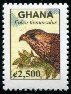 HERRICKSTAMP GHANA Sc.# 2528A Kestrel Falcon C2500 Bird