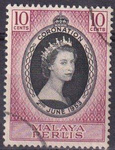 Malaya Perlis #28 F-VF Used  CV $4.00 (Z4068)