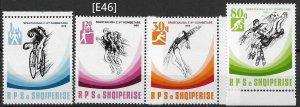 [E46] Albania  1989 6th National athletic Championship Mi.2415-18, MNH