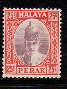 Malaya Perak Sc 92 1939 25c Sultan Iskandar stamp mint