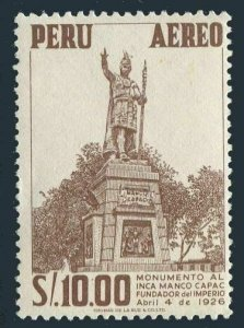 Peru C122, MNH. Michel 541. Manco Capac Monument, 1953.