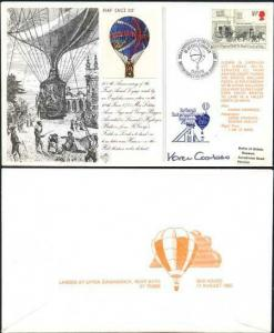 AC22b 200th Ann 1st Flight by an English Woman Signed by Karen Coombes