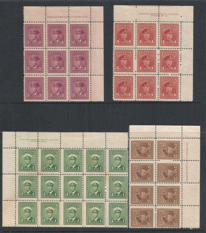 CANADA BLOCKS MNH 1942-42 W/PRINTER [D4]