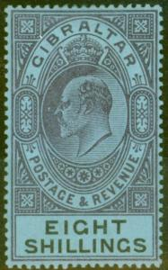 Gibraltar 1903 8s Dull Purple & Black-Blue SG54 Fine & Fresh Lightly Mtd Mint