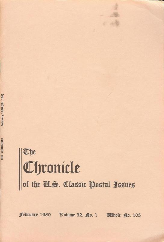 The Chronicle of the U.S. Classic Issues, Chronicle No. 105