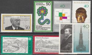 Germany #1245-51 MNH F-VF  CV $6.70 (D4123)