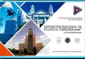 PS-254 ARGENTINA 2016 P STATIONARY PHILATELIC EXPO CEFILOZA LOMAS ZAMORA UNUSED
