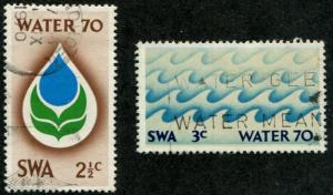 South West Africa SC# 329-30,Water Conference, Set Used