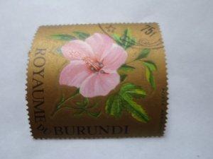burundi stamp cto og mint hinged. # 15