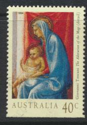 Australia SG 1487a  Used - Christmas  bottom  imperf