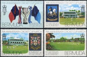 Bermuda #343-346 St. George's and Somerset Cricket Club Matches MNH