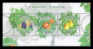Uzbekistan 2019 fruits klb MNH
