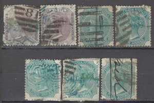 COLLECTION LOT OF # 1701 INDIA 7 STAMPS 1860+ CLEARANCE STUDY CV+$29