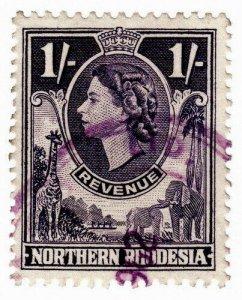(I.B) Northern Rhodesia Revenue : Duty Stamp 1/-