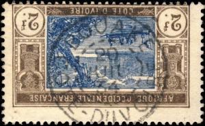 CÔTE-D'IVOIRE - 1934 - CAD BOUAKE / COTE-D'IVOIRE SUR N°56