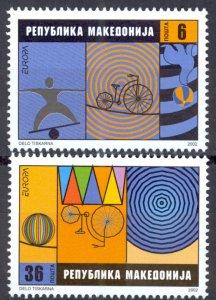 Macedonia Sc# 242-243 MNH 2002 Europa