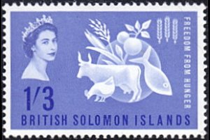 Solomon Islands # 109 mnh ~ 1sh3p Freedom from Hunger
