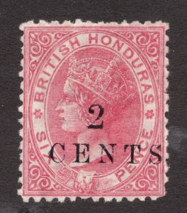 Sc18  - Sg23 - British Honduras - 2c on 6p - 1888 - MNG -  superfleas - cv$350