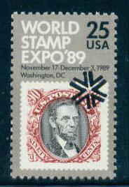 2410 25c Stamp Expo Fine MNH Plt/4 LL 111 1 F10915