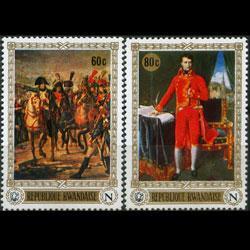 RWANDA 1969 - Scott# 320-1 Napoleon Ptgs 60-80c NH