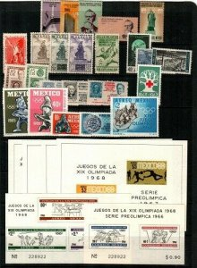 Mexico Scott 747 // 985a + Airmails collection of NH sets and S/S (CV $69.95)