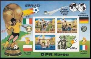 1982 Korea, North 2272-73/B124b 1982 World championship on football of Spain 24,