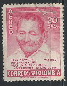 Colombia #C288 20c Javier Pereira