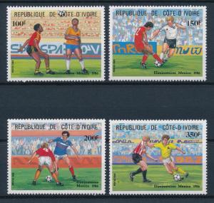 [59656] Ivory Coast 1985 World Cup Soccer Football Mexico MNH