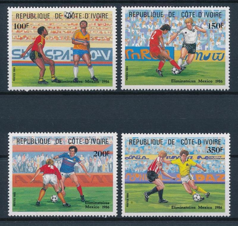 [59656] Ivory Coast 1985 World Cup Soccer Football Mexico MNH
