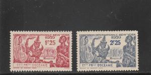 French Polynesia  Scott#  124-5  MH  (1939 New York World's Fair)