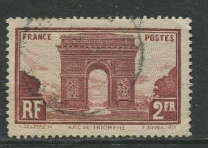 France - Scott 263 - General Issue -1931 - Used -Single 2fr Stamp