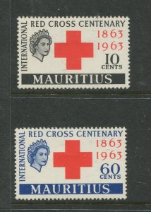STAMP STATION PERTH Mauritius #271-272 Red Cross Issue 1963 MVLH