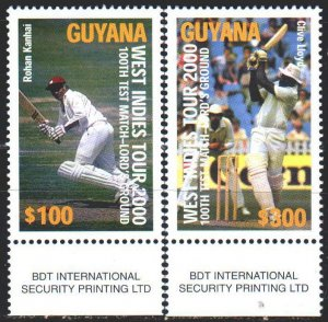 Guyana. 2000. 6972-73. Baseball sports. MNH.
