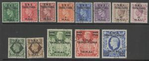 B.O.I.C.-TRIPOLITANIA SGT1/13 1948 DEFINITIVE SET FINE USED