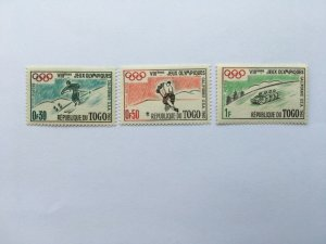 Togo Winter 1960 Olympic Games Mi 276-278 MNH