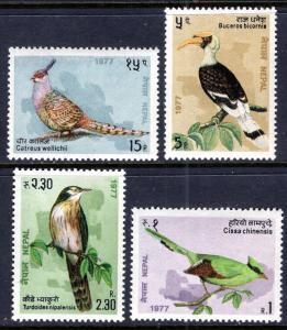 Nepal 331-334 Birds MNH VF