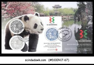 NEW ZEALAND - 2011 27th ASIAN International Stamp Exhibition CHINA / PANDA M/S F